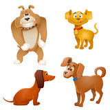 Set of cartoon dogs Royalty Free Stock Photos
