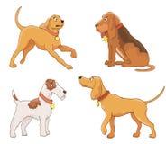 Set of cartoon dogs on white Stock Photo
