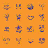 Set of cartoon emotion Royalty Free Stock Image