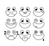 Set of cartoon emotion  Royalty Free Stock Photo