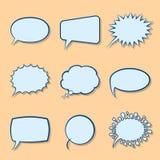 Set Cartoon Empty Speech Bubbles. With Shadows Stock Photography