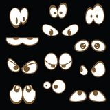 Set of cartoon eyes Royalty Free Stock Photos