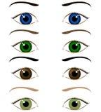 Set of cartoon eyes Royalty Free Stock Image