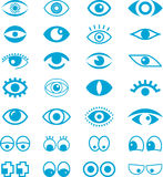 Set of cartoon eyes Royalty Free Stock Photography