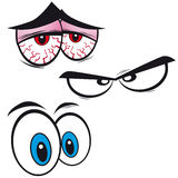 Set of cartoon eyes,  Stock Photography