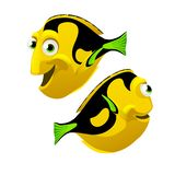 Set of cartoon fish isolated on white background. Vector cartoon close-up illustration. Set of cartoon fish isolated on white background. Vector cartoon Royalty Free Stock Image