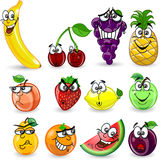 Set of cartoon fruits,vector Stock Photo