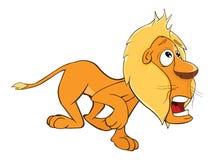 Set of Cartoon Funny Yellow Lions Royalty Free Stock Photo