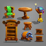Set of cartoon furnitures. Royalty Free Stock Photos