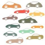 Set Of Cartoon Futuristic Cars Stock Photography