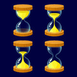 Set of Cartoon glossy hourglass Royalty Free Stock Images