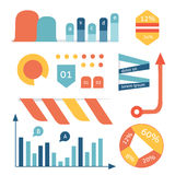Set cartoon graph, diagram, graphic, vector, chart, and business Royalty Free Stock Image