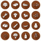Set of cartoon hand drawn objects on vegan protein Royalty Free Stock Photography
