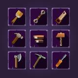 Set of cartoon hand tools. Vector Royalty Free Stock Photos