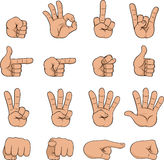 Set of cartoon hands Royalty Free Stock Images