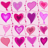Set of cartoon hearts Royalty Free Stock Photography
