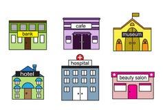Set Cartoon houses Stock Image