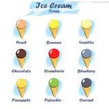 Set of cartoon ice cream icons Royalty Free Stock Image