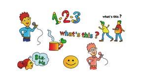 Set of cartoon icons Stock Image