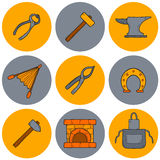 Set of cartoon icons in hand drawn style on Stock Photo