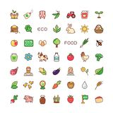 Icons eco food Stock Photos