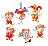 Set Cartoon Illustration. A Cute Cats Clowns for you Design royalty free illustration