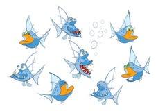 Set of Cartoon Illustration. A Cute Fish for you Design Stock Photos
