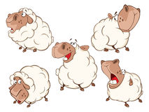 Set of Cartoon Illustration.A Different Sheep for  you Design. Cartoon Character Stock Images