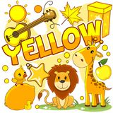 Illustrations of yellow color. Royalty Free Stock Images