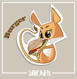 Set with cartoon Jerboa. Vector illustrated characters of Jerboa. stickers with emotions Royalty Free Stock Images