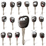 Set of cartoon keys Royalty Free Stock Images