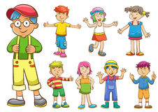 Set of cartoon kids. EPS10  File simple technique Royalty Free Stock Images