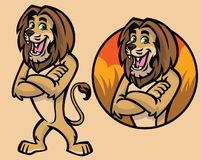 Set of cartoon lion character Stock Images