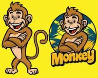 Set of cartoon monkey character Royalty Free Stock Photo