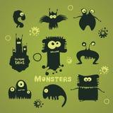 Set of cartoon monsters Stock Photos
