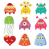Set of cartoon monsters Stock Photo