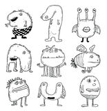 Set of cartoon monsters. vector illustration Stock Photo