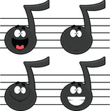 Set of Cartoon Music Notes Royalty Free Stock Photography