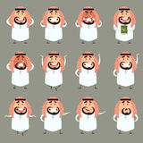 Set of cartoon muslim icons2 Royalty Free Stock Images