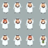 Set of cartoon muslim icons1 Stock Photography
