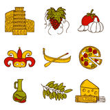 Set of cartoon objects in hand drawn style on Royalty Free Stock Photo