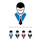 Set of cartoon office worker Royalty Free Stock Image