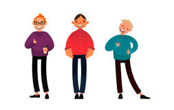 Set of cartoon people. Vector illustration. Stock Photo