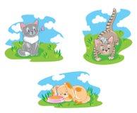 Set of cartoon pets Royalty Free Stock Photo