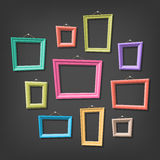 Set of cartoon picture frames Royalty Free Stock Photography