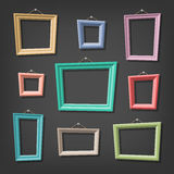 Set of cartoon picture frames Stock Images