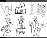 Set of cartoon politics concepts Stock Image