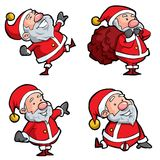 Set of Cartoon Santa Stock Image