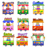 Set of Cartoon Shops. EPS10 File  simple Gradients Stock Photos