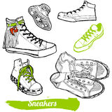 Set of cartoon sneaker Royalty Free Stock Photos
